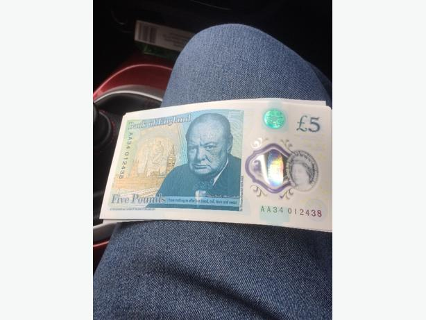 new £5 notes