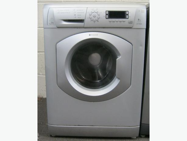 Hotpoint WMD960 Silver Washing Machine, Large 8kg Capacity, 1600 Spin, Warranty