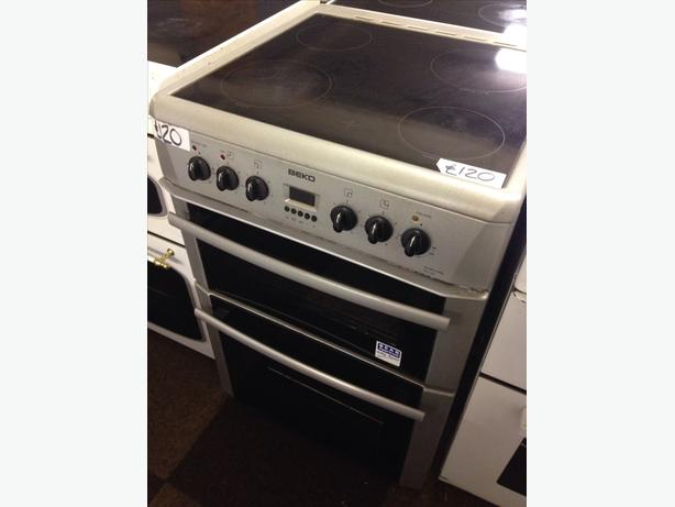 BEKO FAN ASSISTED DOUBLE OVEN ELECTRIC COOKER