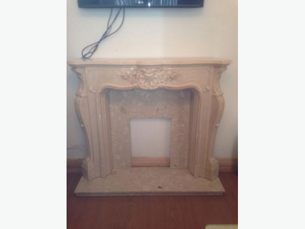 BEAUTIFUL ITALIAN MARBLE FIRE SURROUND