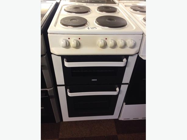 ZANUSSI 50CM PLATED TOP ELECTRIC COOKER