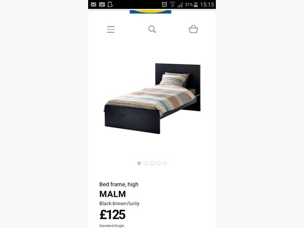 Ikea Malm single bed&Matress