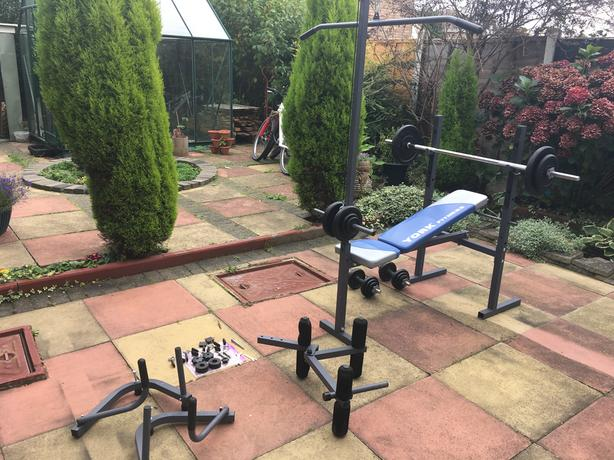 YORK multi gym weight workout bench 100% working