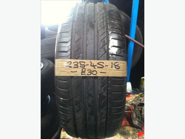 235-45-18 Continental ContiSportContact 5 98Y 7mm Part Worn Tyre