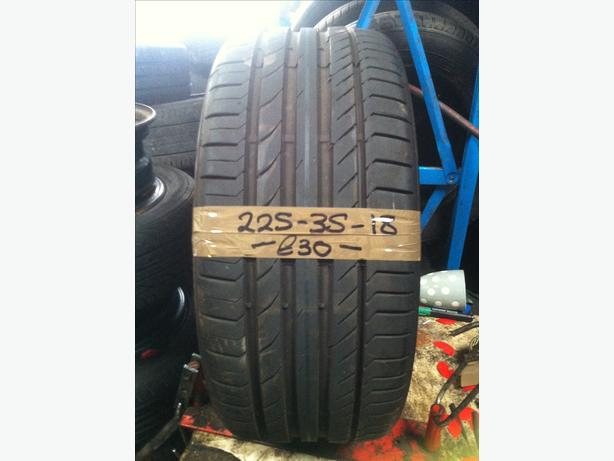 225-35-18 Continental ContiSpotContact 5 87W 6mm Part Worn Tyre