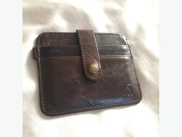 Leather unisex card wallet