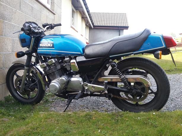 1980 suzuki gsx750et retro muscle bike cafe racer