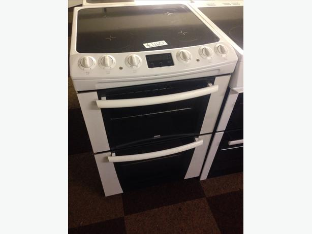 ZANUSSI 60CM DOUBLE OVEN FAN ASSISTED ELECTRIC COOKER