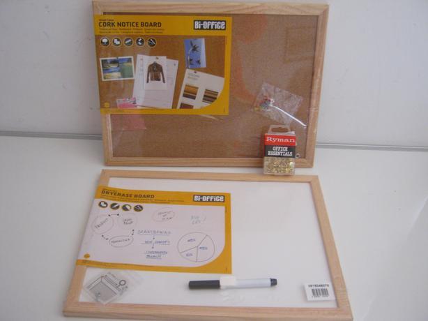 Dryerase White Board And Cork Notice Board
