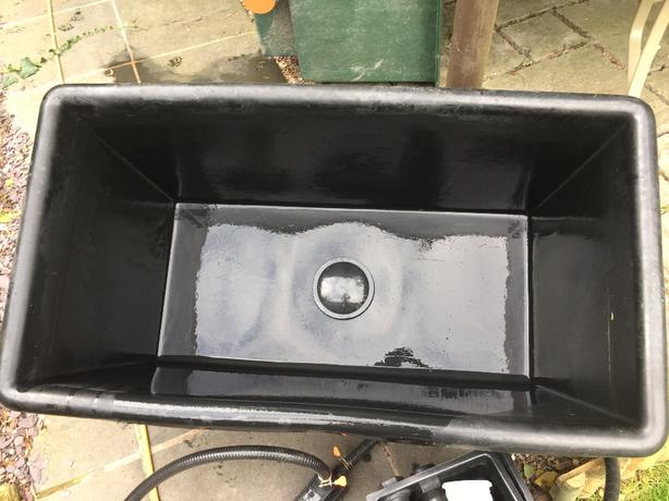koi carp quarantine holding grow on vat tank pump filter
