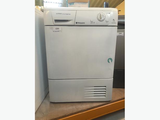 8kg hotpoint condenser dryer free delivery