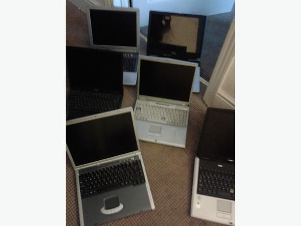 x6 laptops (job lot)