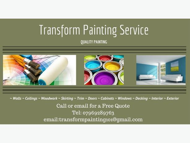 Painting Service £100 per room for first time customers