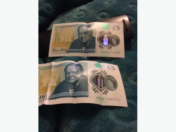 £5 notes for sale make me an offer
