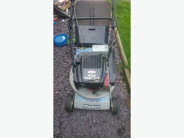 masport petrol lawn mower