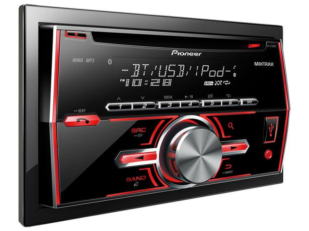 Pioneer  double DIN RDS Tuner with Bluetooth, Mixtrax, USB and Aux-In