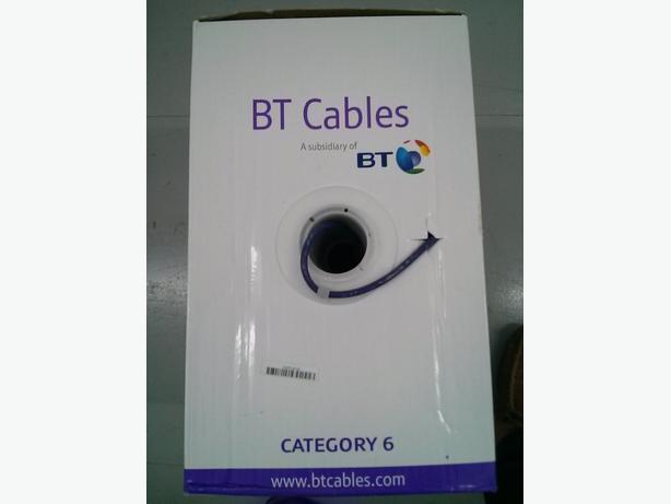 BT CAT6 Solid U/UTP LSZH Ethernet Cable Reel - 305m Brand New
