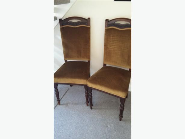 2 EDWARDIAN/VICTORIAN CHAIRS