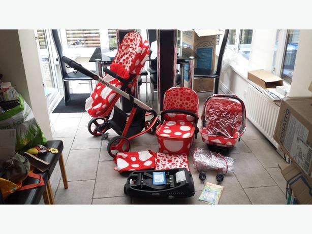 COSATTO (3 in 1) travel system RED BUBBLE