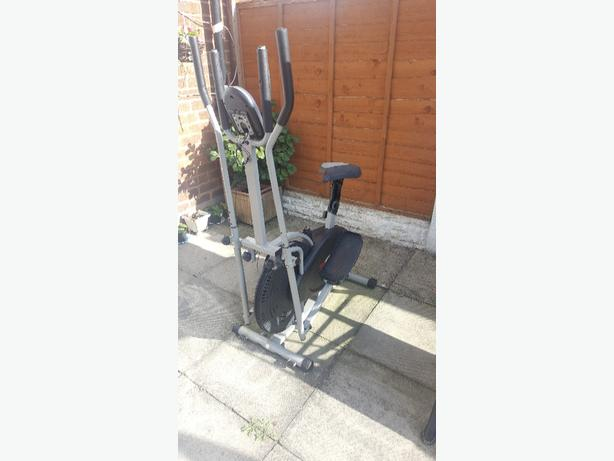 2in1 cross trainer and exercise bike