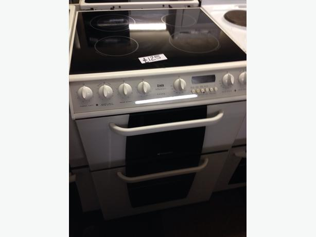 HOTPOINT 60CM DOUBLE OVEN FAN ASSISTED ELECTRIC COOKER