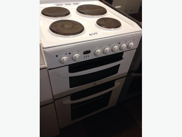 INDESIT 60CM ELECTRIC COOKER DOUBLE OVEN FAN ASSISTED
