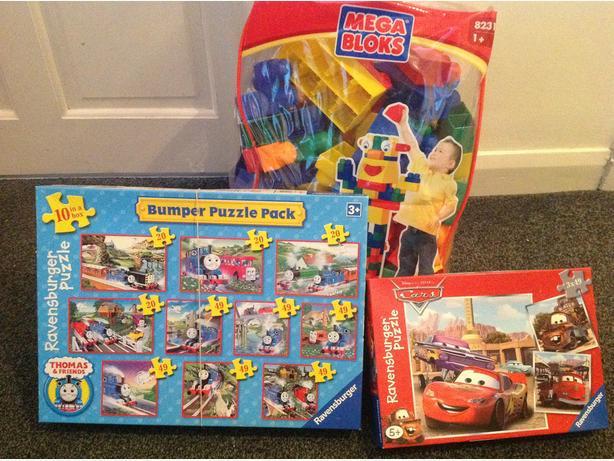 Mega blocks & Cars/Thomas Puzzles