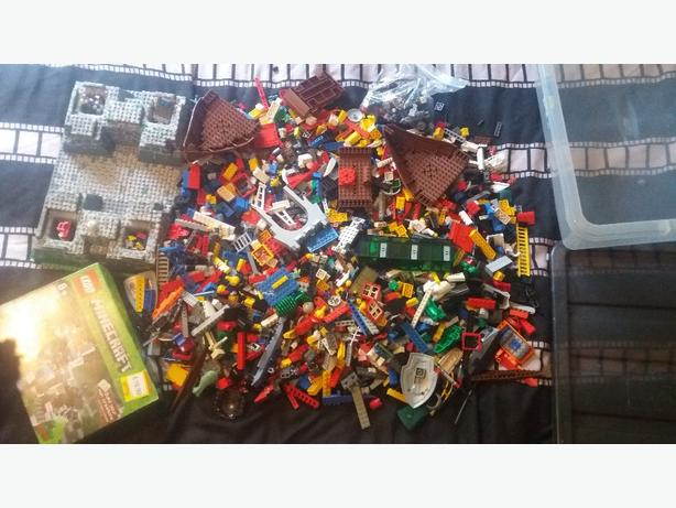 A large tub of Lego