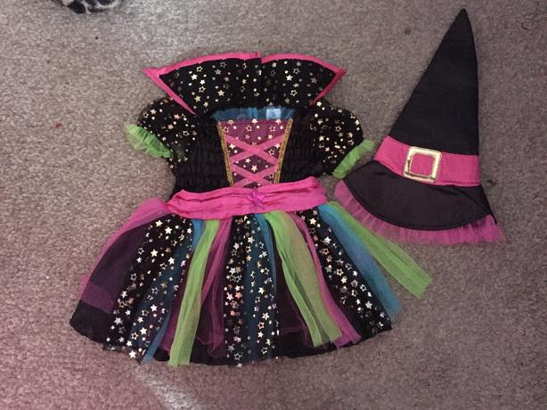 Witch haloween costume 3-6 months