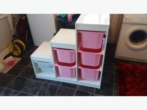 Girls Ikea Storage Unit With Plastic Drawers Walsall