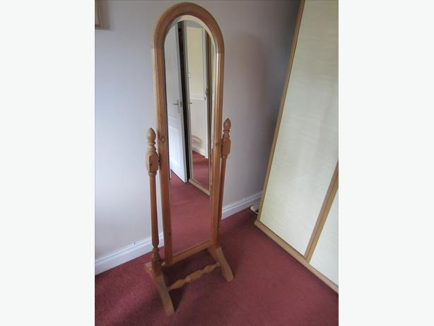 Pine Cheval Mirror