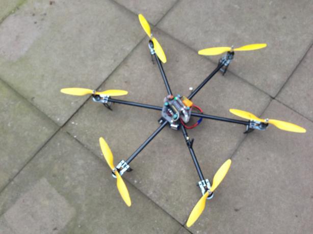 Carbon Fiber 600 Hexcopter