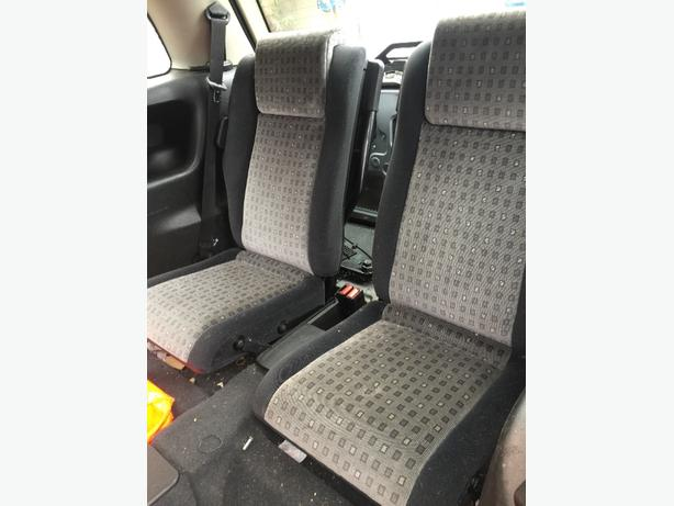 VAUXHALL ZAFIRA 3RD ROW REAR BACK SEATS 6th & 7th seat seatbelts etc