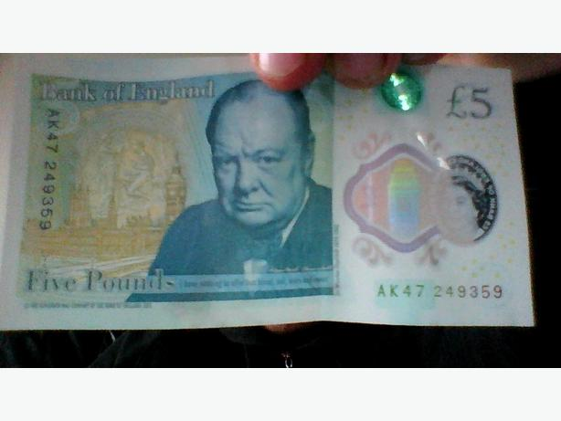 New 5 pound note AK47 249359