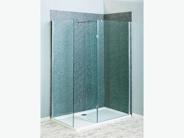 680mm Glass Shower End Panel