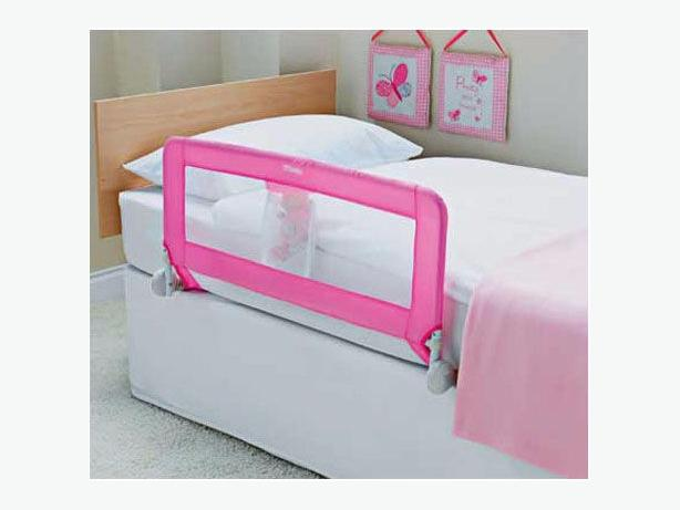 tomy pink folding bed rail