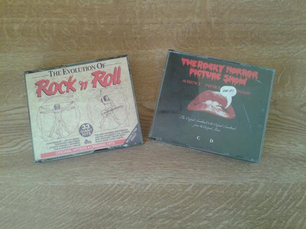 The Evolution Of Rock n Roll and The Rocky Horror Picture Show CDs.