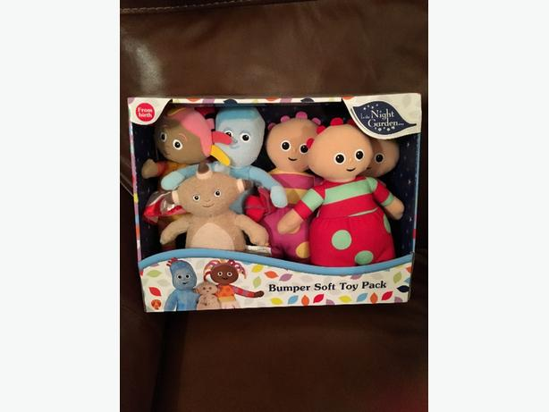 brand new in the night garden bumper soft toy pack