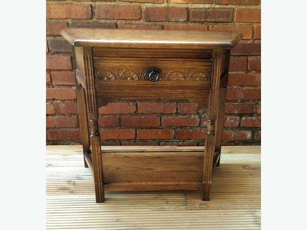 Solid wood lamp table / side table..
