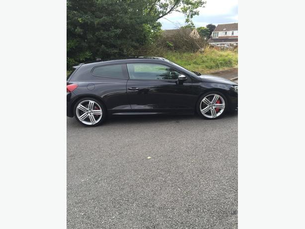 scirocco r black Volkswagen 3 door sports car 2.0 turbo dsg fully loaded