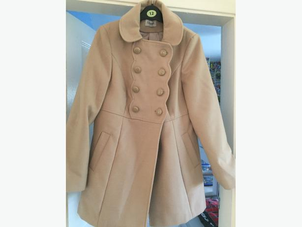 beige formal coat