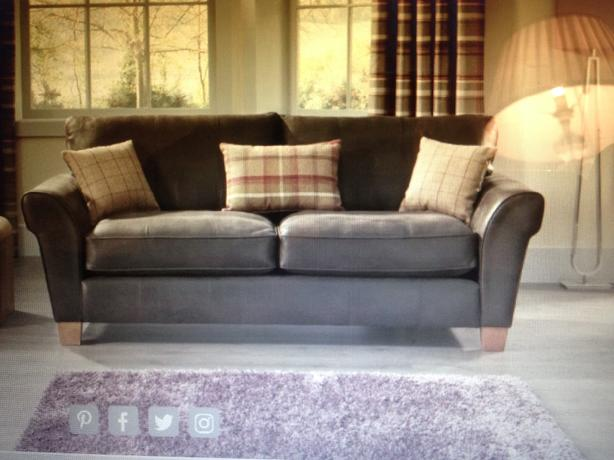 3 seater soft leather sofa