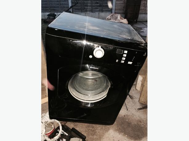 black hotpoint dryer (spares or repairs)