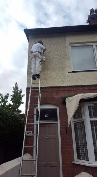 Exterior Masonry Paint Smooth Finish Harborne Birmingham