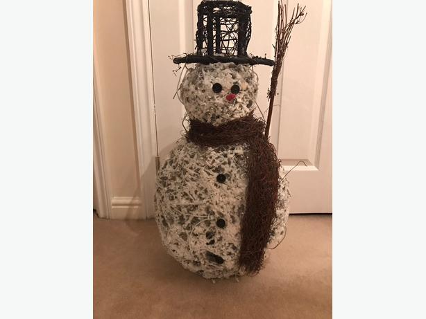 christmas electric light snowman