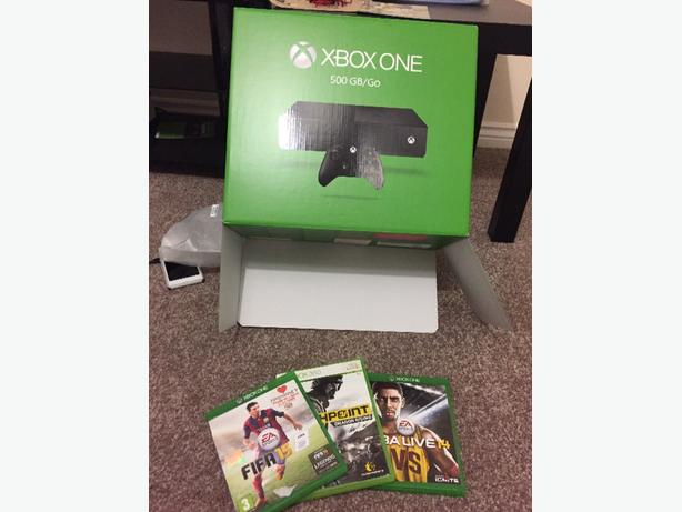 xbox one 500gb/go 3 games 1 remote. *PERFECT CHRISTMAS GIFT MINT*