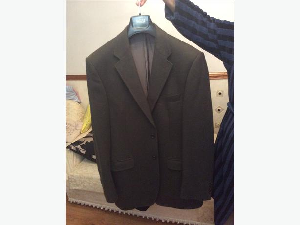 Marks & spencers olive single coat suit