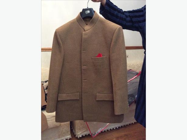 Sharwanni collar coat