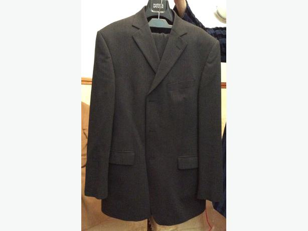 Marks&Spencers charcoal medium length coat