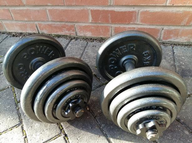 40KG CAST IRON DUMBBELL WEIGHT SET